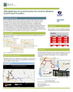 Affordable Bus Arrival Estimation Poster